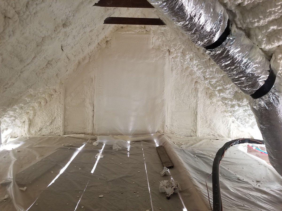 Spray foam attic project
