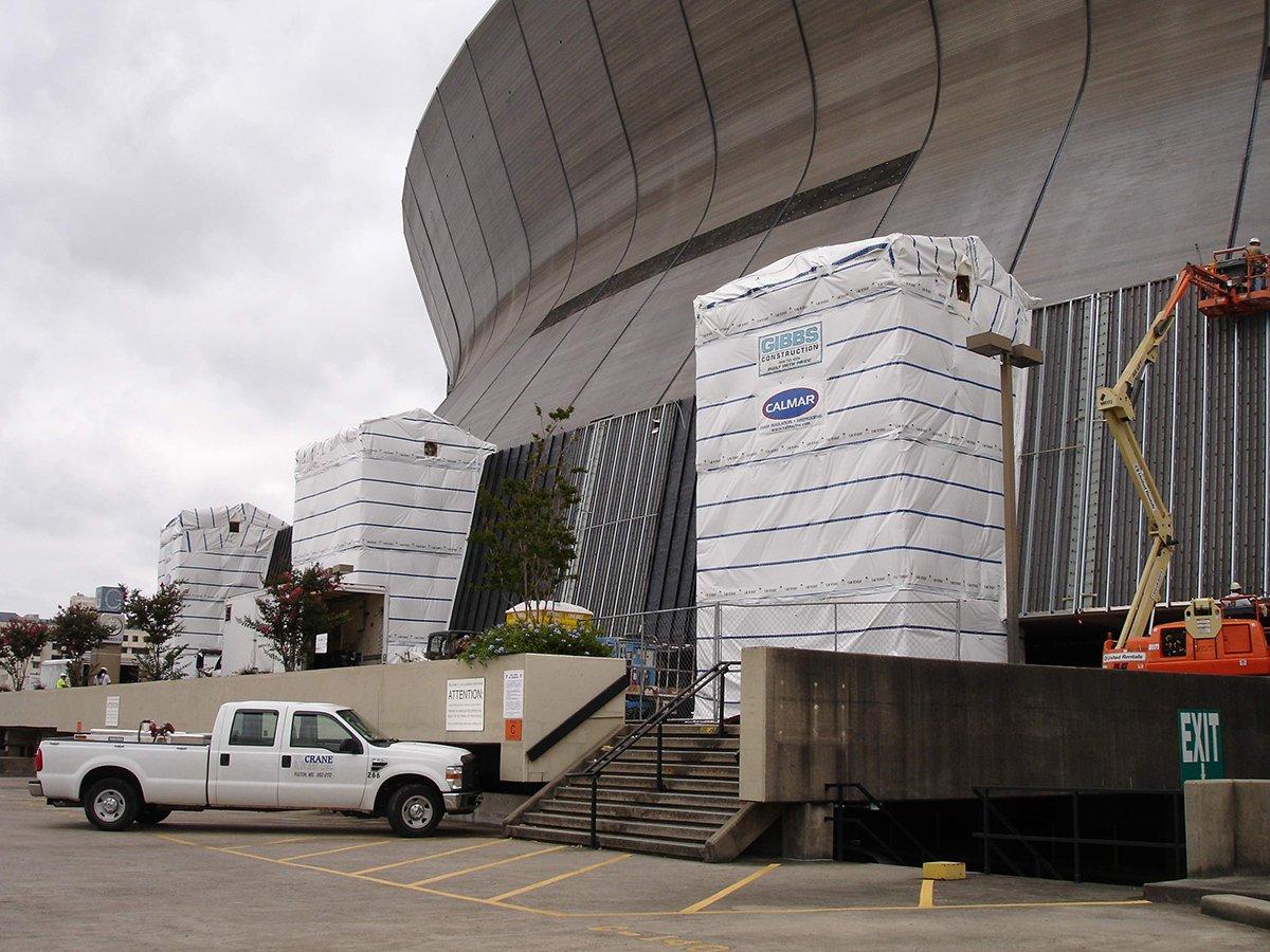Superdome spray foam insulation project