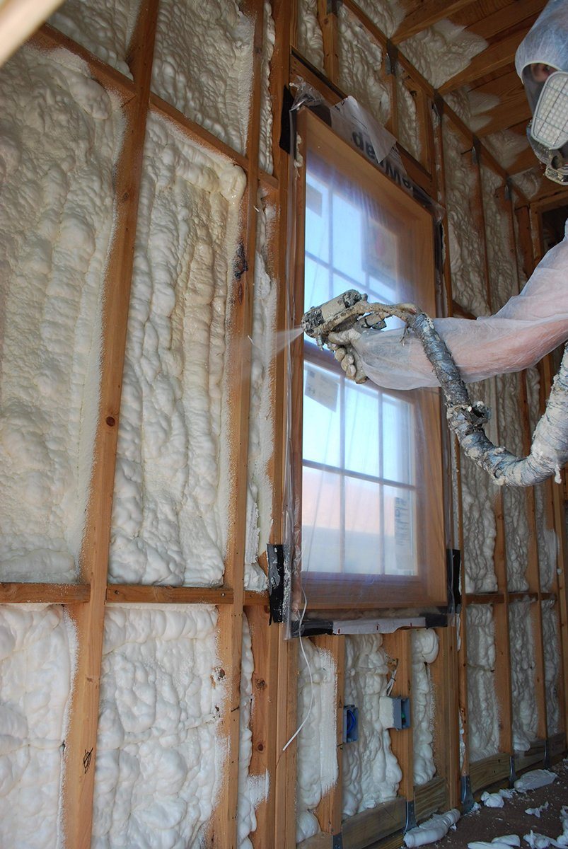 Spray foam insulation technician