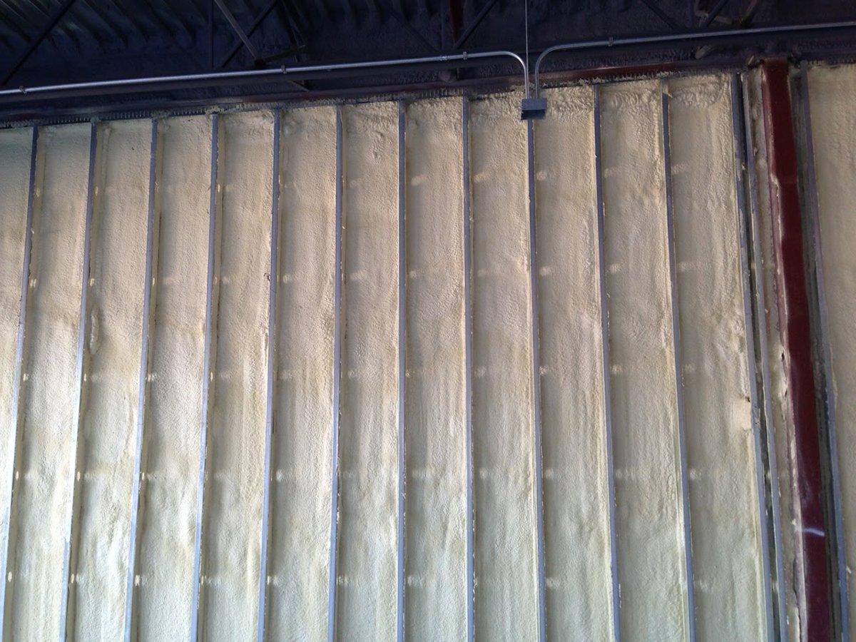 Spray foamed wall